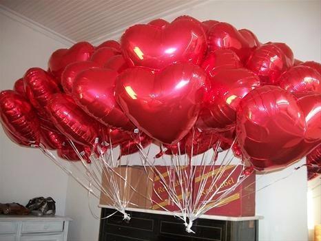 balão coração festa decoração
