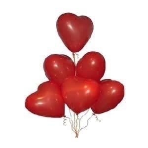balão coração vermelho nº 6 pacote com 500 unidades