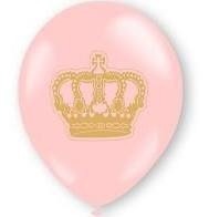 balão coroa rosa nº 9 (25 unidades)