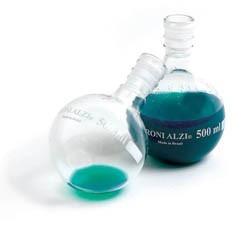 balão em vidro, fundo chato gargalo curto 1000 ml