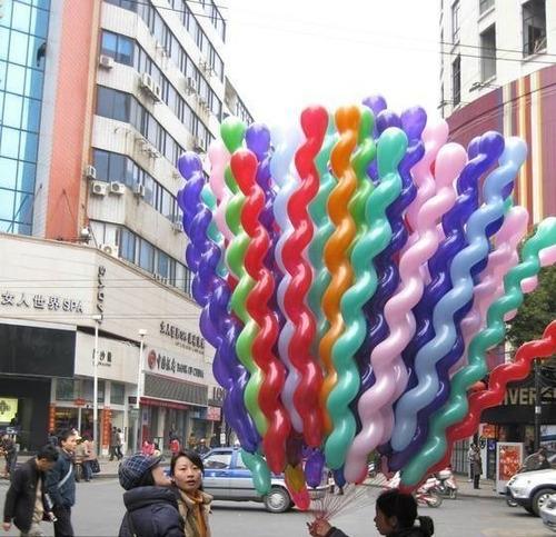 balão espiral bexiga parafuso festa curvo 50 unidades