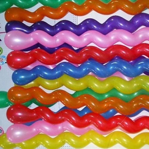 balão espiral parafuso festa decoração bexiga curvo kit 100