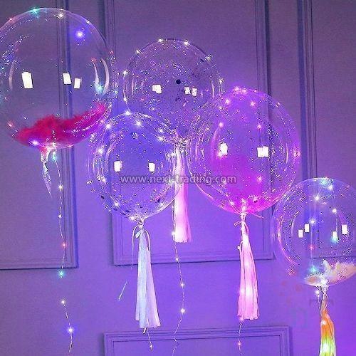 balão festa com led aniversário casamento bexiga + bateria