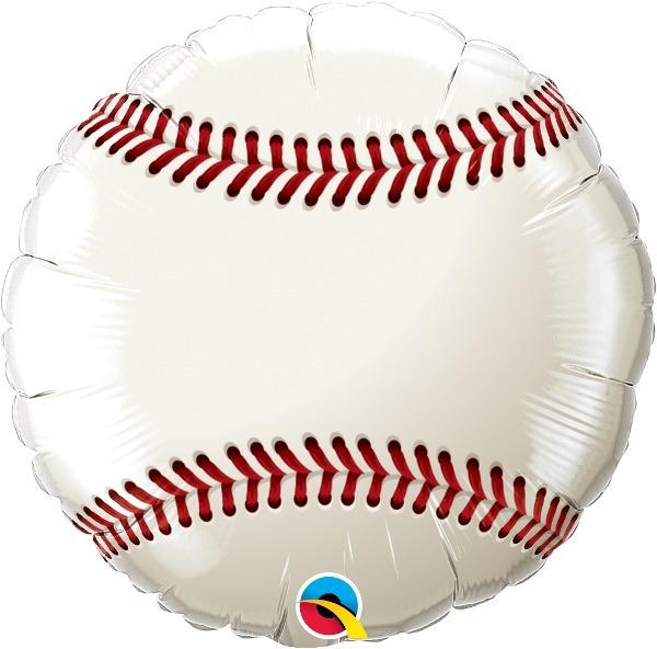 Balão Metalizado - Bola De Beisebol - 18 Pol. Qualatex - R  24 647703962bb55