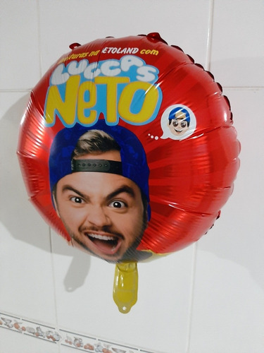 balão metalizado luccas neto kit c/25 unidades redondo