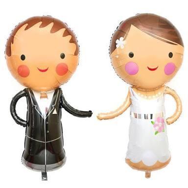 balão metalizado para casamento - noivos