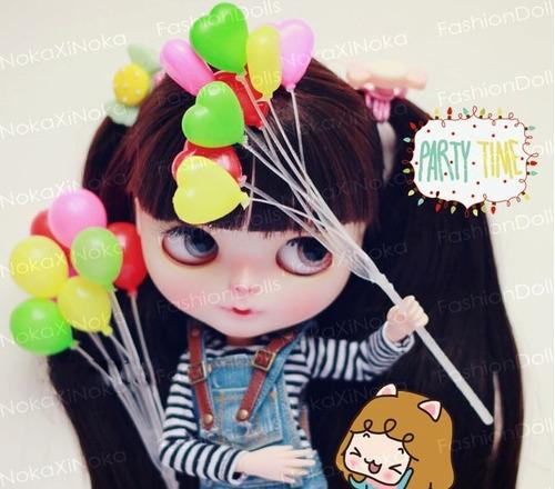 balão para boneca blythe pullip barbie *kit com 8 miniaturas