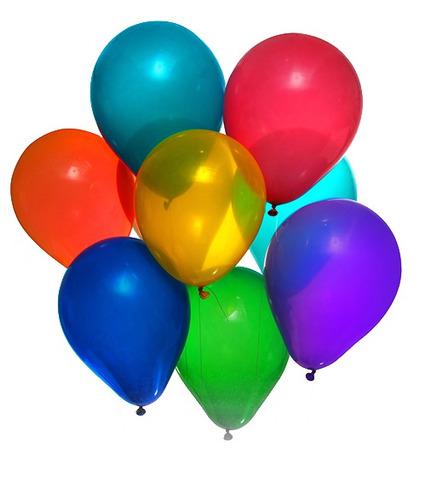 balão/bexiga de festa cor lisa nº 9 pic pic - 10 pcts