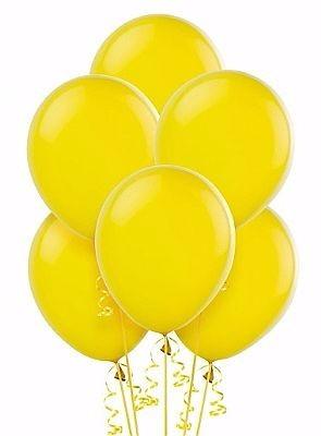 balões ballons n° 7 amarelo pacote com 50 bexigas