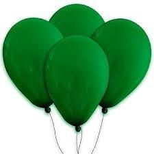 balões são roque n° 9 verde folha pacote com 50 bexigas