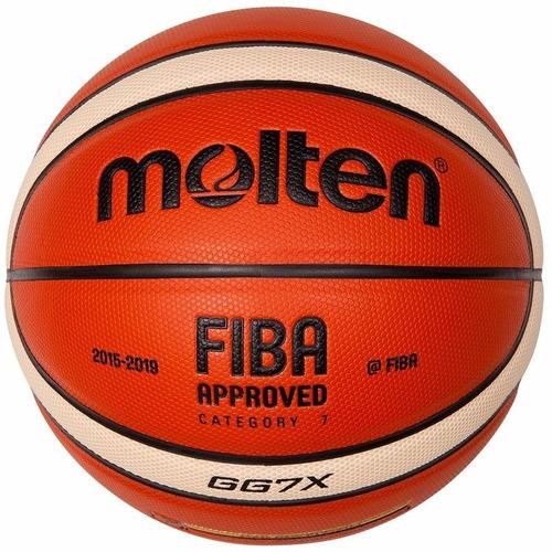 balon baloncesto basketball molten gg7x cuero+rodilleras