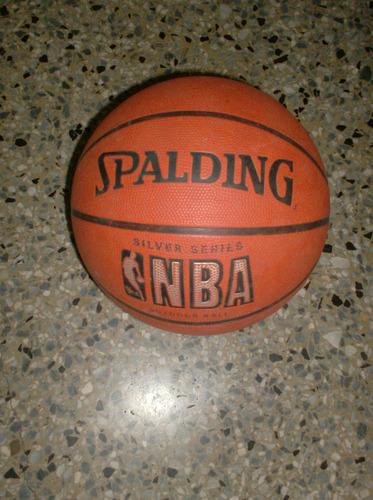 balón basketball spalding nba silver original
