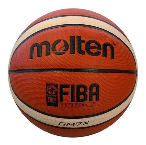 balon de baloncesto molten gm7x en cuero profesional fiba n7
