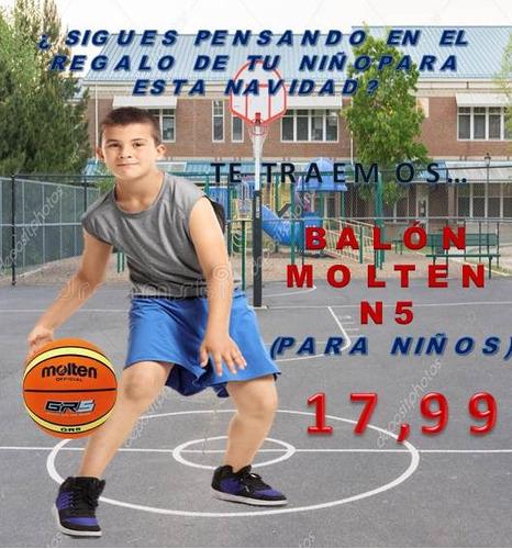 balón de basquet n5 en oferta marca molten