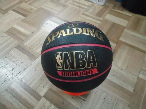 balón de basquet spalding highligh nba rojo dorado ecuador