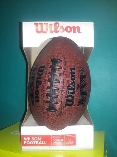 balón de futbol americano mvp wilson. tamaño oficial.