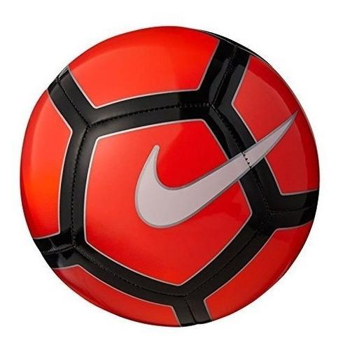 balón de fútbol nike pitch (rojo / blanco, 4)