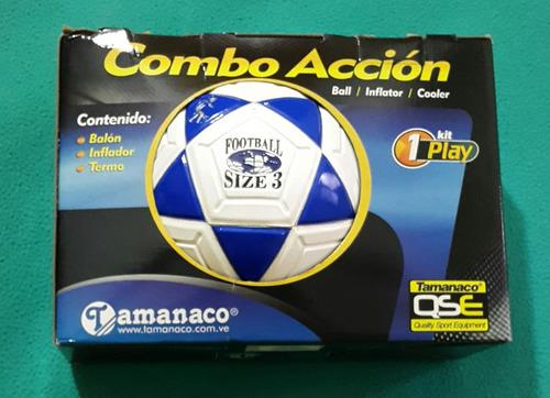 balón de futbolito n°3 tamanaco combo accion 100% original