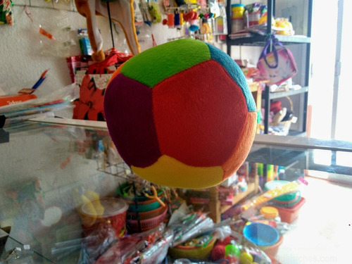 balón de peluche economico 17 cms diversos colores