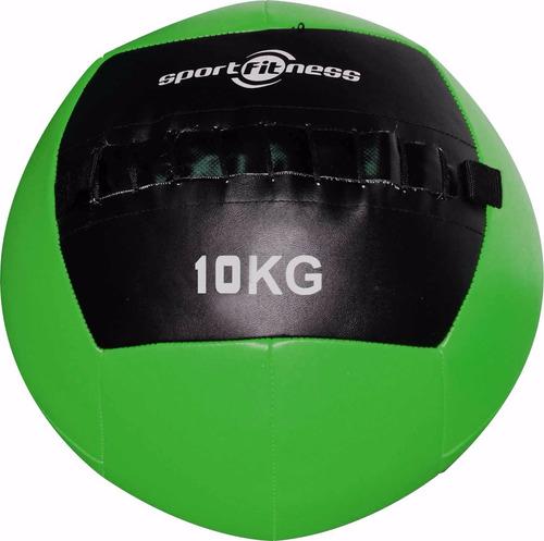 balón de peso 10kg cuero sintético sportfitness gym crossfit