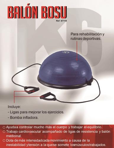 balon ejercitador con bombra bosu k6  dk tiendas