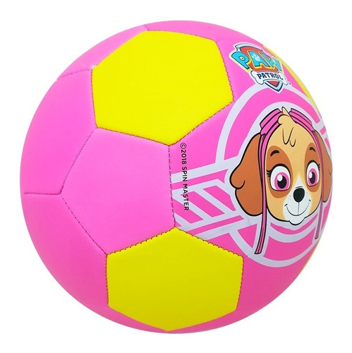 balón fútbol soccer skye no. 3 paw patrol niño rosa voit