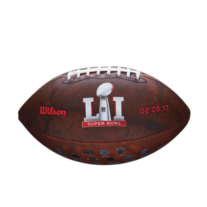 Balon Logos Futbol Americano Nfl Super Bowl 51 Wilson -   449.00 en ... 346b756f04b