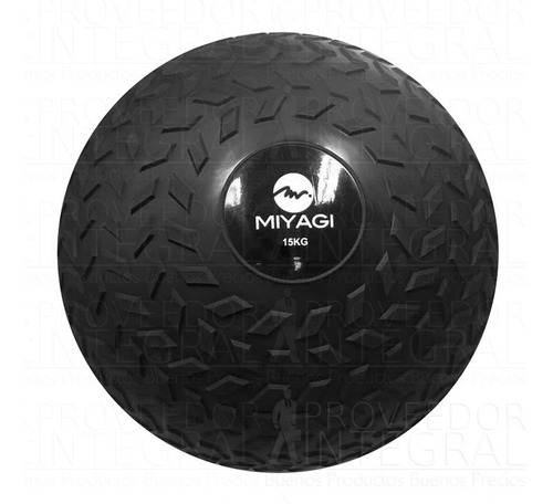 balón pelota medicinal c/ peso inflable 15 kg negro miyagi