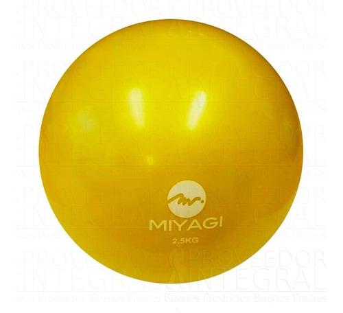 balón pelota medicinal mini c/ peso 2.5kg amaril miyagi