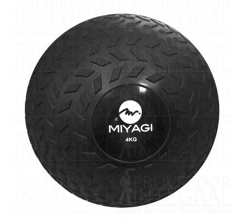 balón pelota medicinal tip llanta inflable 4 kg negro miyagi