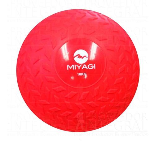 balón pelota medicinal tipo llanta inflble 10 kg rojo miyagi