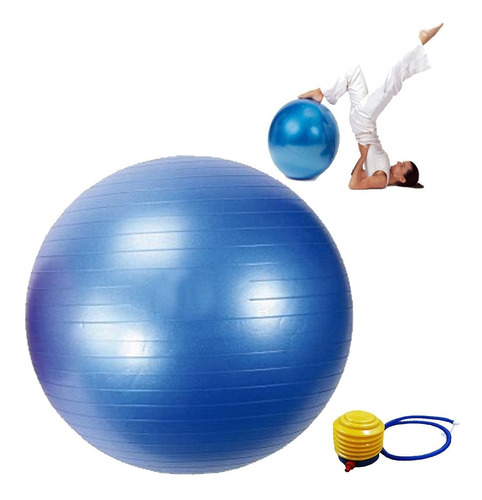balon pilates terapias yoga 75cm + inflador multi ejercicio