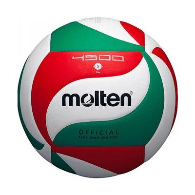 balon voleibol molten v5m4500 pu laminado verde/bco/rojo n-5