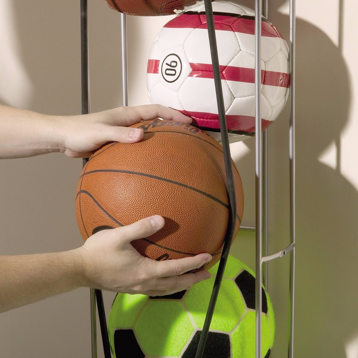 Balonera Jaula Red Para Guardar Balones Futbol Basquetbol