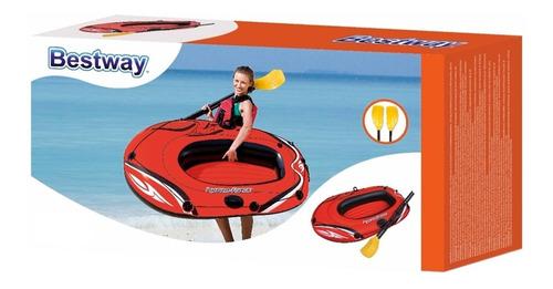 balsa inflable bote infantil bestway 155x97cm con remos