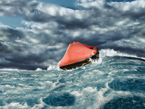 balsa salvavidas autoinfl p 6 a 10 pers 15 millas rio rada