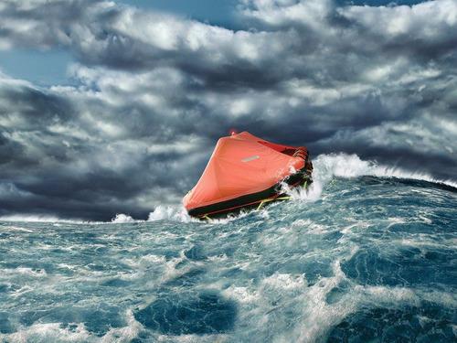 balsa salvavidas autoinfl para 10 per pesca costera rio rada