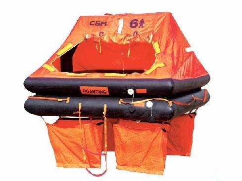 balsa salvavidas autoinflable para 6 personas deportiva