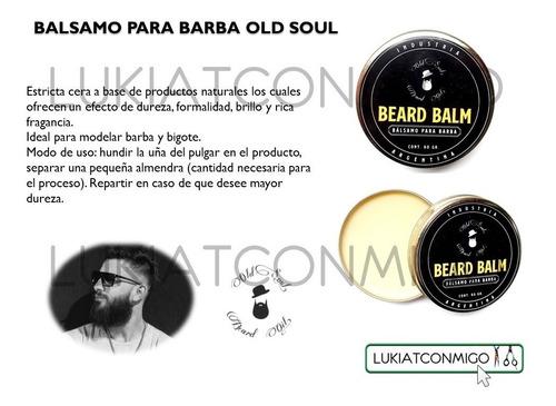 bálsamo cera barba old soul modelado peinado brillo 60gr
