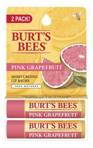 bálsamo labial burts bees pomelo rosado lipbalm x2