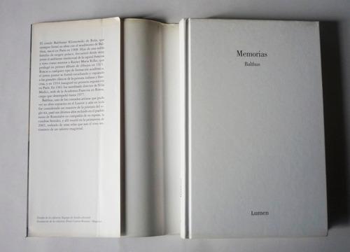 balthus memorias - edición de alain vircondelet