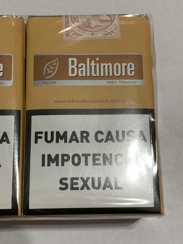 baltimore cigarritos pack por 10  rubios