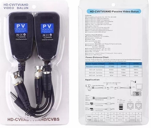 balun video power -rj45