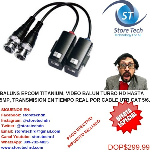 baluns epcom titanium, video balun turbo hd hasta 5mp, trans