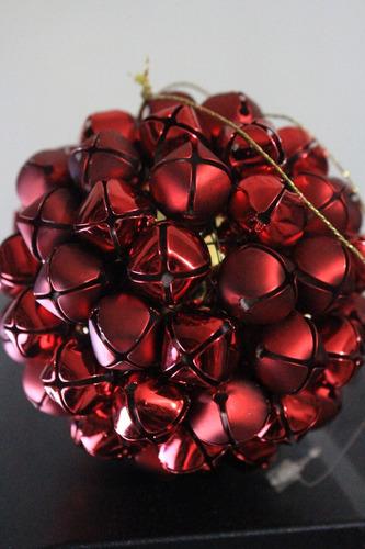 bambalinas cascabel d 8.5 de diametro color roja
