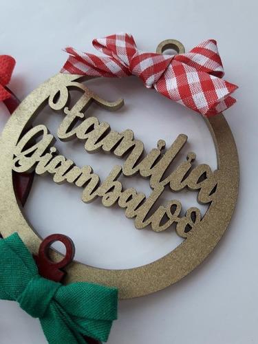 bambalinas de mdf personalizadas para el arbol navidad