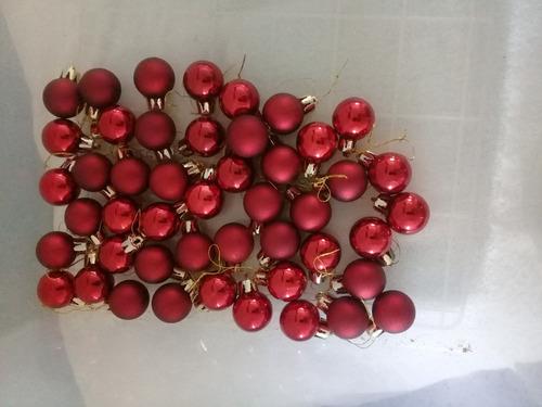bambalinas navidad rojas y doradas