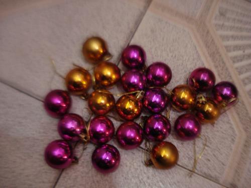 bambalinas pequenas  navidenas 13cms (combo 22 pzas usada)