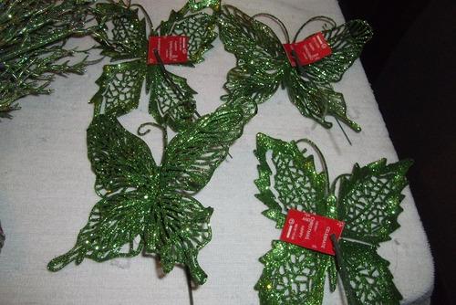 bambalinas y adornos para arbolito verde precio oportunidad