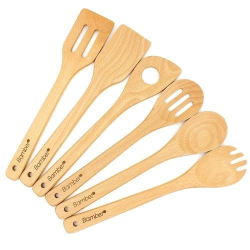 bamber madera cucharas de cocina y espátulas, + envio gratis
